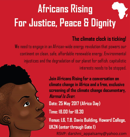 Normal is Over, screening in South Africa and Mauritius with #AfricansRising